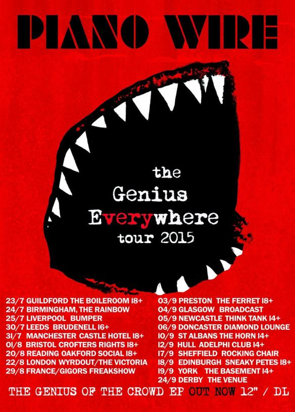 PIANO WIRE Summer tour 2015 poster